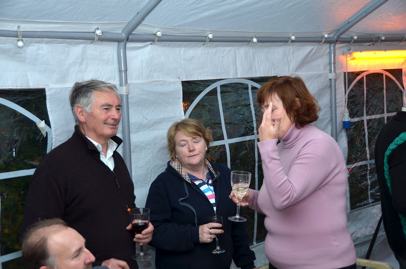 Pat and Ide enjoying the moment with Maria and John Dunne
