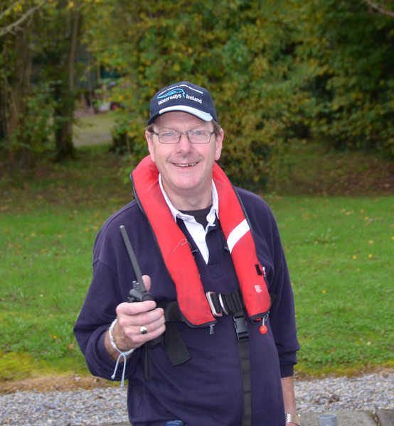 Louis Rice, Harbour Master for the Crusing Club's arrival at Gortmore