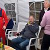 John Dunne relaxes while John Breslin supervises....