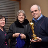 "Captain Paul of ""Arthur"", holding the Oscar that Dimitri Tiomkin won for his score for the movie 'The High And The Mighty', together with Mary Healy and Mrs. Olivia Tiomkin Douglas.  <br /> <br /> Film Music has long been one of my major interests, ever since I was a teenager.  This evening, both the concert itself and the post-concert session in the Conrad Hotel, was a truly memorable occasion for me. <br /> <br /> 'Nuff said ... onto ""Arhur""..."