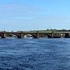 Departing Banagher on Sunday morning and heading for Meelick Lock....a Panorama of Banagher Bridge.