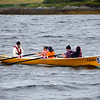 One of the numerous rowing crews that regularly practice on Valentia River.
