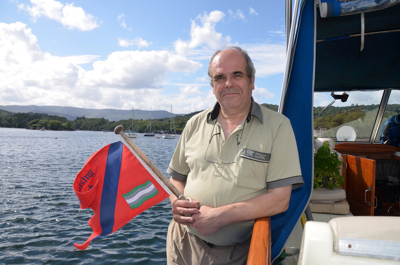 Paul with IWAI Cruising Club burgee...