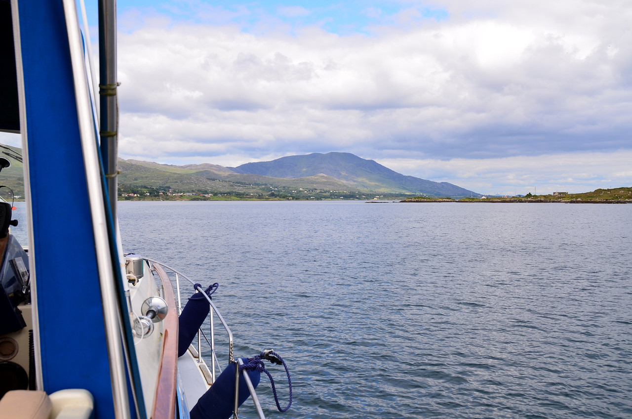 "Heading around Bere Island towards Lawrence Cove Marina which is located on the east side of the island.<br /> <br /> A short (2mins 33secs) video clip covers the approach and entry to Bere Haven:<br /> <br /> <a href=""https://www.youtube.com/watch?v=5YN6GoBvIXA"">https://www.youtube.com/watch?v=5YN6GoBvIXA</a>"