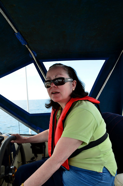 Mary at the helm.