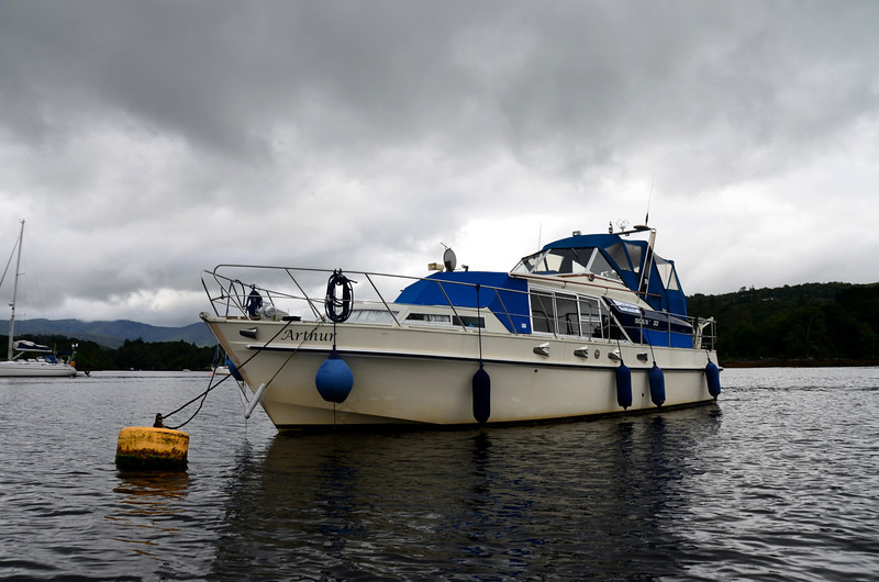 """""""Arthur"""" on a mooring buoy in Glengarriff Harbour.<br /> <br /> And finally we get it right...with a little help from friends!<br /> <br /> Video clip (2mins 20 secs) shows what happened:<br /> <br /> <a href=""""https://www.youtube.com/watch?v=XFvDjNji7fw"""">https://www.youtube.com/watch?v=XFvDjNji7fw</a>"""