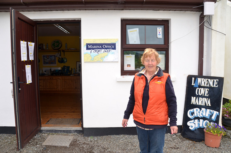 Phil, outside her office and craft shop.