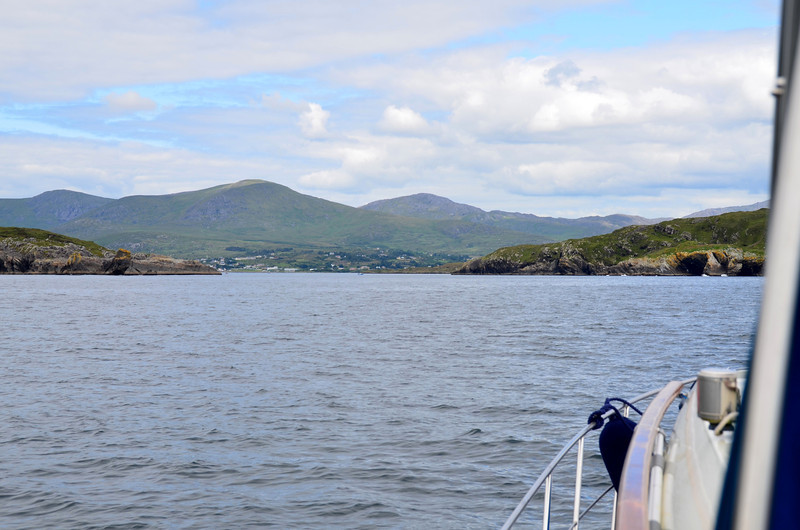 The west entrance to Bere Island with Castletownbere in the distance.