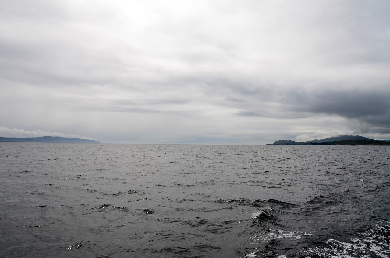Circa 15:00hrs...Looking back on Bantry Bay. Bere Island on the right of picture. And the fog has already lifted!