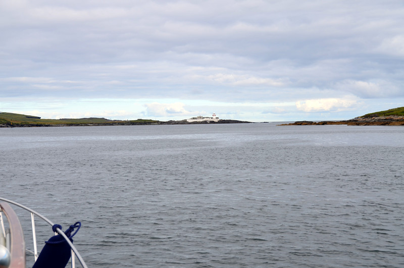 Approaching Dingle Bay with Cromwell Point Lighthouse in the distance.