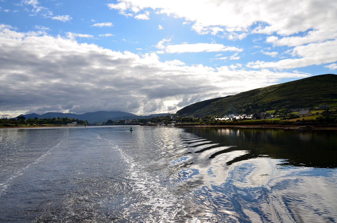 "Friday, 20th July, 2012.  Having spent approx. ten days in Cahersiveen patiently waiting for  the 'right' weather, our time has come!  Circa 08.52 we depart Cahersiveen Marina and head for Bantry Bay.<br /> <br /> This will be new cruising territory for ""Arthur"" and her crew....and a long time coming!  This has been on my 'to-do list' for the past few years! Now it is about to happen!<br /> <br /> The video camera is mounted on the windscreen and it is now equipped with a 32gb microSDhc card which will allow us to record video in 1280x720 format as opposed to the 720x480 resolution that we were forced to use up to now.<br /> <br /> Only problem with recording files on the Samsung Galaxy SII is that the recording automatically stops after an hour and the 'record' button must be pressed again in order to activate the next recording. And the file sizes are HUGE.  Using 720x480 resolution a one hour recording resulted in a file of approx.1gb. Using the 12808720 resolution the file size is 4gb!  And I also encountered a problem in downloading the 4gb files to my Sony Vaio notebook. Problems with the file size. Anyway, the issue is now resolved but unfortunately I lost some files in the process... :-(<br /> <br /> Link to short YouTube video clip (83 seconds) of ""Arthur"" departing Cahersiveen:<br /> <br /> <a href=""http://www.youtube.com/watch?v=ovRrLRSuvRE"">http://www.youtube.com/watch?v=ovRrLRSuvRE</a><br /> <br /> [Good broadband recommended]"