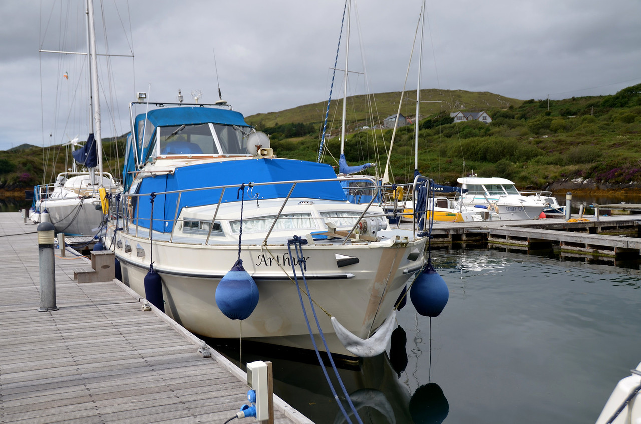 """Arthur"" in her berth at Lawrence Cove Marina."