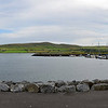 A panorama of Dingle Marina as viewed from the road.