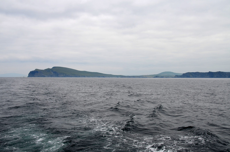 Looking back at Valentia Island.  We must investigates the Portmagee Channel option which would save some time and obviate the necessity of passing round Valentia Island.