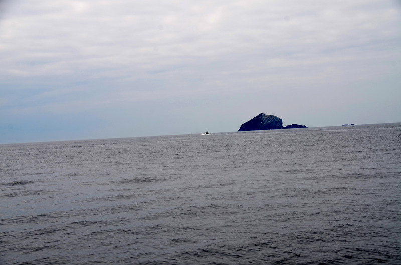 """Pantou Pao"" takes her leave and heads in the direction of 'The Bull' the largest of three rocks (islands?) known as the Bull, The Cow, and The Calf which are located just off Dursey Head."