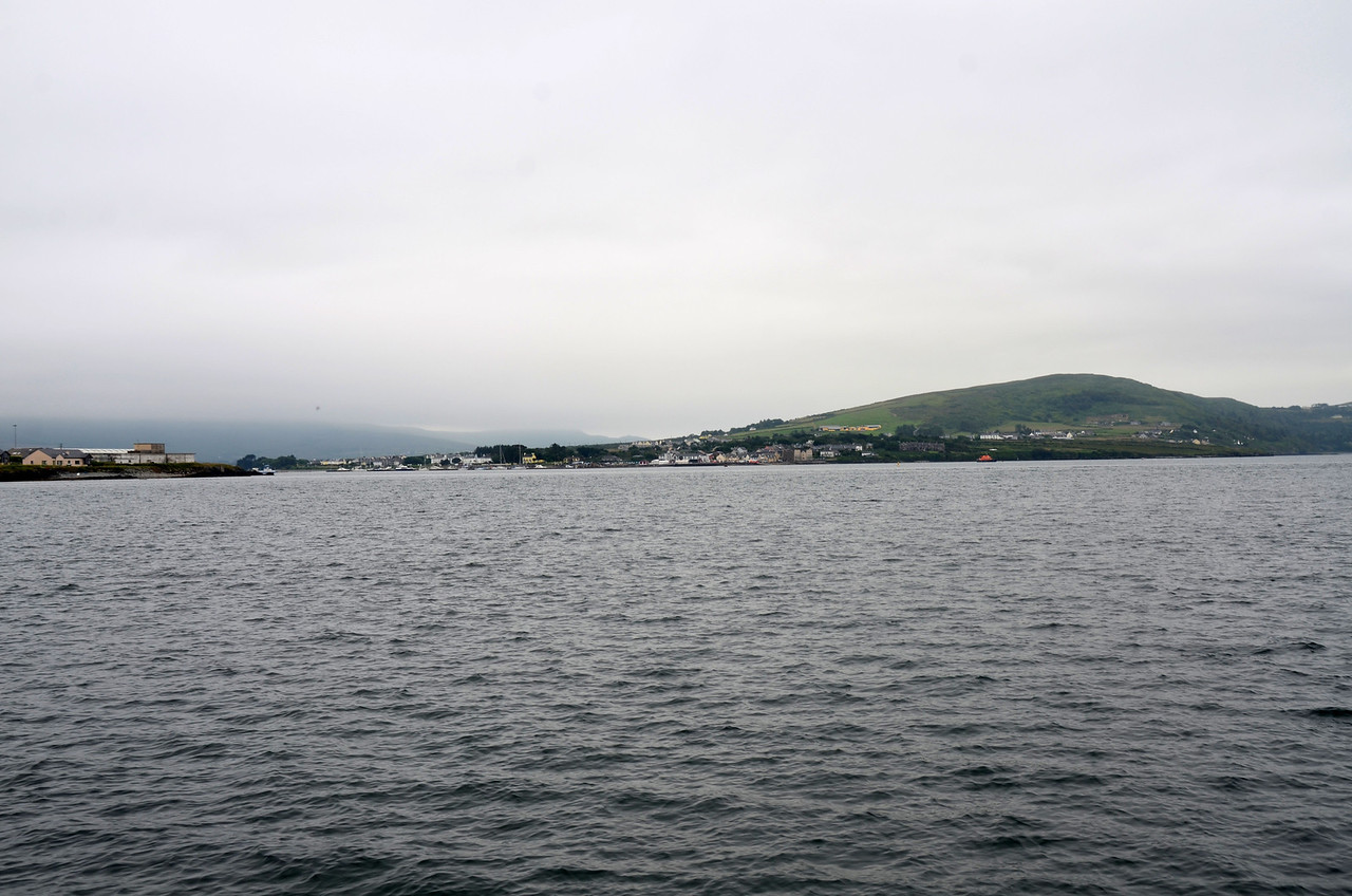 Just after 11.00 am as we approach Knightstown on our way out to Dingle Bay.