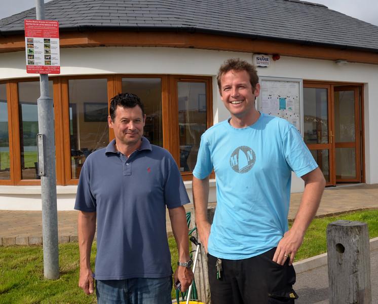 Brian with Roland of Dingle Marina.