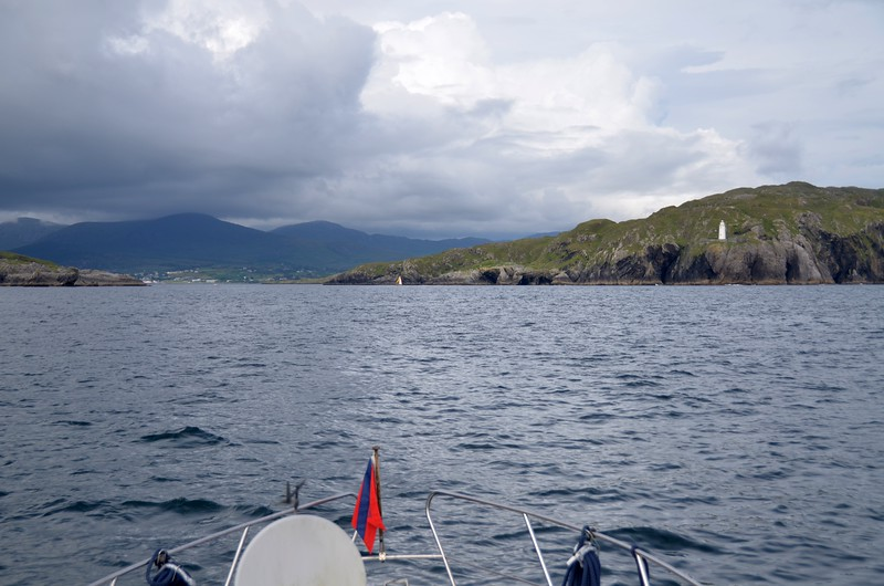 Approaching the entrance to Berehaven.