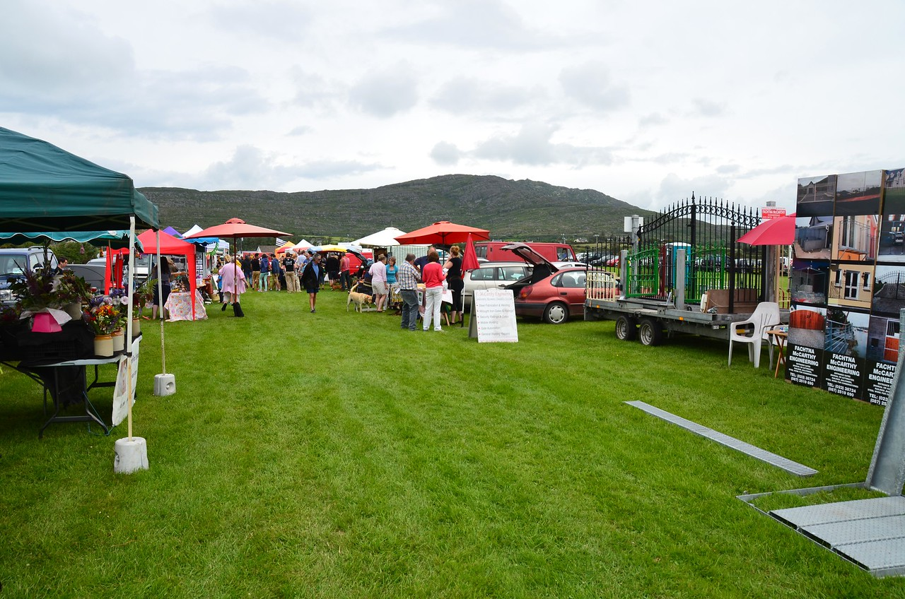 The Annual Schull Agricultural Show which was held on the outskirts of the town. Some locals suggested that it was only a half-mile walk from the town. Two miles later we discovered the reality...and also that a free shuttle bus service was operating between the show and town... :-(