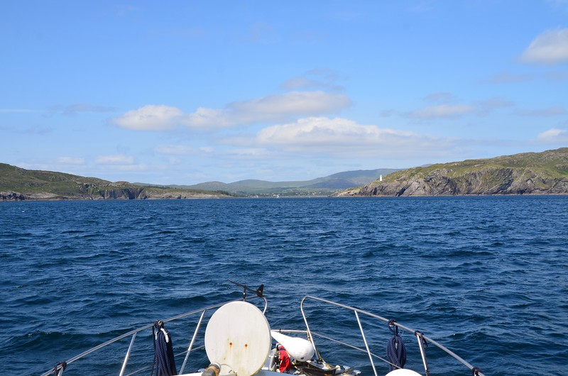 circa 15:40...approximately three and a half hours after departing Schull and we are approaching the west entrance to Berehaven.  However, what I had originally seen as a plus was the rising tide that we would encounter on Bantry Bay.  Unfortunately I had forgotten that we would NOT be cruising UP Bantry Bay...but rather ACROSS it... :-(  And so we endured the constant onslaught of waves catching us on the beam as we headed across Bantry Bay towards the entrance to Berehaven. We tacked a little and eventually made it to the entrance of Berehaven.