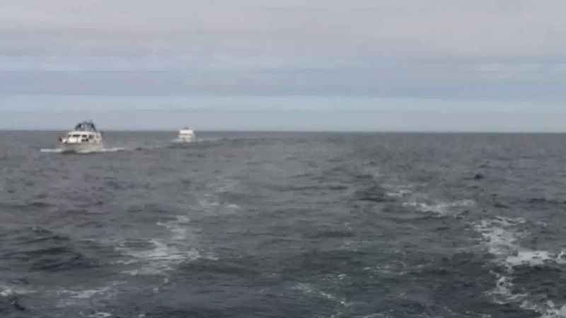 VIDEO<br /> <br /> circa 11:17... Heading into Fenit. Click the above image to view a 23 second video clip. <br /> <br /> When the video is 'Loaded' you will need to click on the 'Play' button to start the video playback.<br /> <br /> NOTE that viewing the video will cause another page to open in which the video will play. To return to the PhotoJournal click on the X at top right-hand corner of the video page OR hit the 'Back' button on your browser.