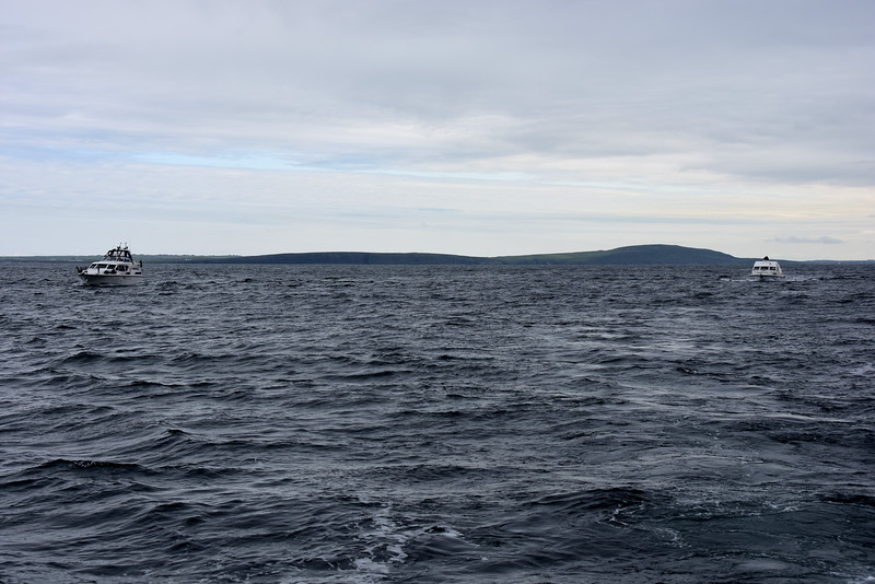 Circa 09:40... Cool Runnings (left) and Snow Mouse (right) cruising towards Kerry Head.