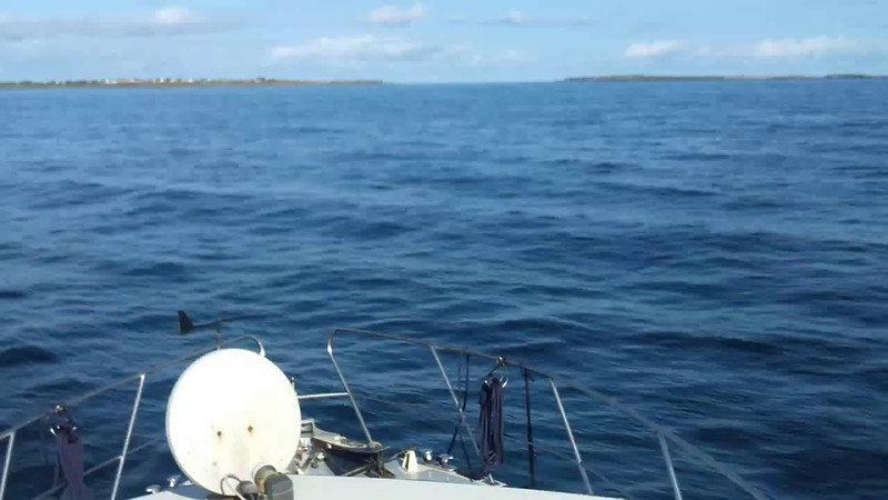 VIDEO<br /> <br /> circa 08:52... click the above image to view a 33 second video clip of the approach to Magharee Sound. <br /> <br /> When the video is 'Loaded' you will need to click on the 'Play' button to start the video playback.<br /> <br /> NOTE that viewing the video will cause another page to open in which the video will play. To return to the PhotoJournal click on the X at top right-hand corner of the video page OR hit the 'Back' button on your browser.