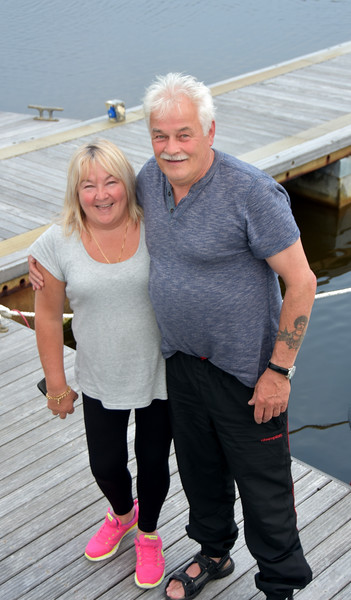 Pat and Geraldine on Monday evening prior to our planned departure for Dingle.