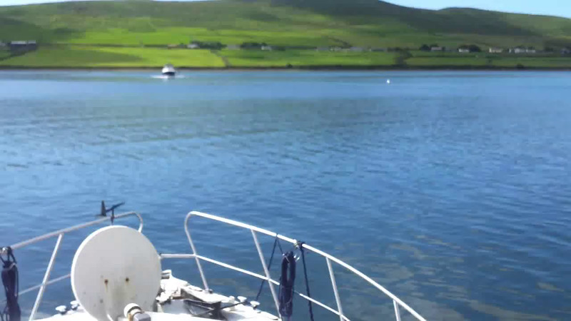 "VIDEO<br /> <br /> 10:55...click the above image to view a 58 second video clip (slightly shaky)  of ""Arthur"" departing Dingle. <br /> <br /> When the video is 'Loaded' you will need to click on the 'Play' button to start the video playback.<br /> <br /> NOTE that viewing the video will cause another page to open in which the video will play. To return to the PhotoJournal click on the X at top right-hand corner of the video page  OR hit the 'Back' button on your browser."