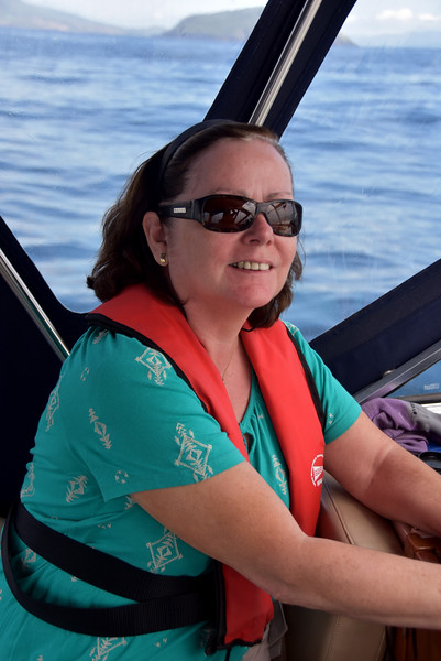 "Mary has just spotted dolphins!  Mary has a strong belief that if we encounter dolphins during a passage that the passage will be safe and smooth. And our coastal cruising experiences to date on ""Arthur"" affirm her belief."