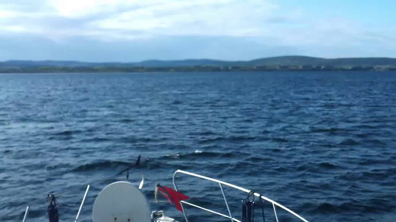 "VIDEO<br /> <br /> 09:17...click the above image to view a 29 second video clip  of ""Arthur"" re-entering Bantry Bay en-route to Bantry Harbour. <br /> <br /> When the video is 'Loaded' you will need to click on the 'Play' button to start the video playback.<br /> <br /> NOTE that viewing the video will cause another page to open in which the video will play. To return to the PhotoJournal click on the X at top right-hand corner of the video page  OR hit the 'Back' button on your browser."