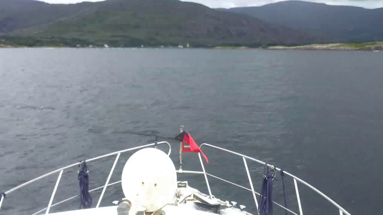 "VIDEO<br /> <br /> 11:51...click the above image to view a 37 second video clip  of ""Arthur"" entering Adrigole Harbour. <br /> <br /> When the video is 'Loaded' you will need to click on the 'Play' button to start the video playback.<br /> <br /> NOTE that viewing the video will cause another page to open in which the video will play. To return to the PhotoJournal click on the X at top right-hand corner of the video page  OR hit the 'Back' button on your browser."