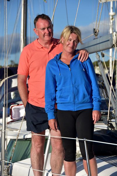 Paddy & Michelle on their yacht 'Crosby'.