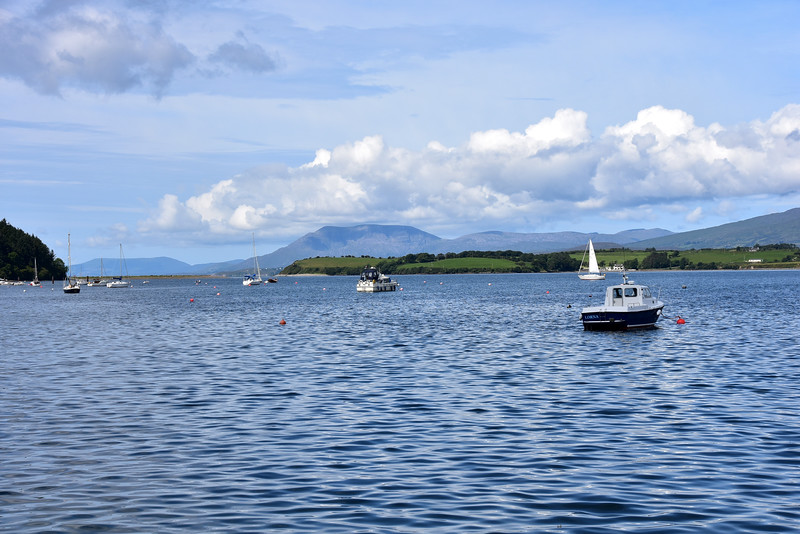 circa 11:30...Arthur, centre of photo, with South Entrance to Bantry Bay (left) and Whiddy Island in background. Photo taken on way back from town.