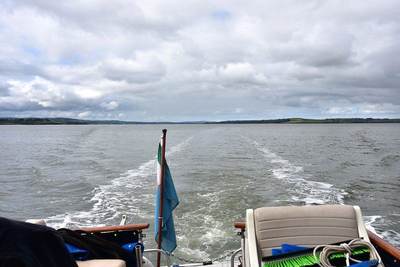 circa 12:00... Looking astern with Tarbert in the distance.