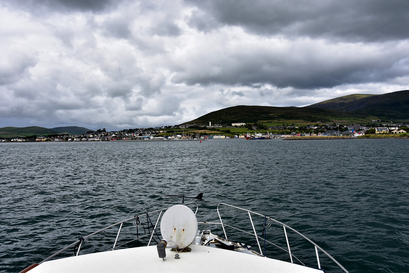 15:45... just over seven hours since we departed Lawrence Cove and we are arriving in Dingle Harbour. That's a seven hour trip which previously has taken us up to eight hours to complete when going via Dursey Head. Food for thought!