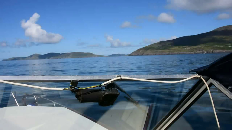 """VIDEO<br /> <br /> 10:42... click the above image to view a 33 second video clip  of """"Arthur"""" heading towards the Blasket Sound. <br /> <br /> When the video is 'Loaded' you will need to click on the 'Play' button to start the video playback.<br /> <br /> NOTE that viewing the video will cause another page to open in which the video will play. To return to the PhotoJournal click on the X at top right-hand corner of the video page  OR hit the 'Back' button on your browser."""