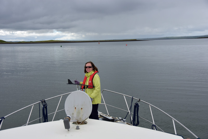 10:20...Departing Kilrush Marina. Channel markers and Safe Water marker ahead.