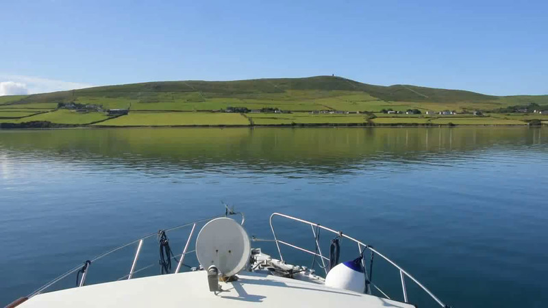 "VIDEO<br /> <br /> 09:40...click the above image to view a 23 second video clip  of ""Arthur"" departing Dingle Harbour. <br /> <br /> When the video is 'Loaded' you will need to click on the 'Play' button to start the video playback.<br /> <br /> NOTE that viewing the video will cause another page to open in which the video will play. To return to the PhotoJournal click on the X at top right-hand corner of the video page  OR hit the 'Back' button on your browser."