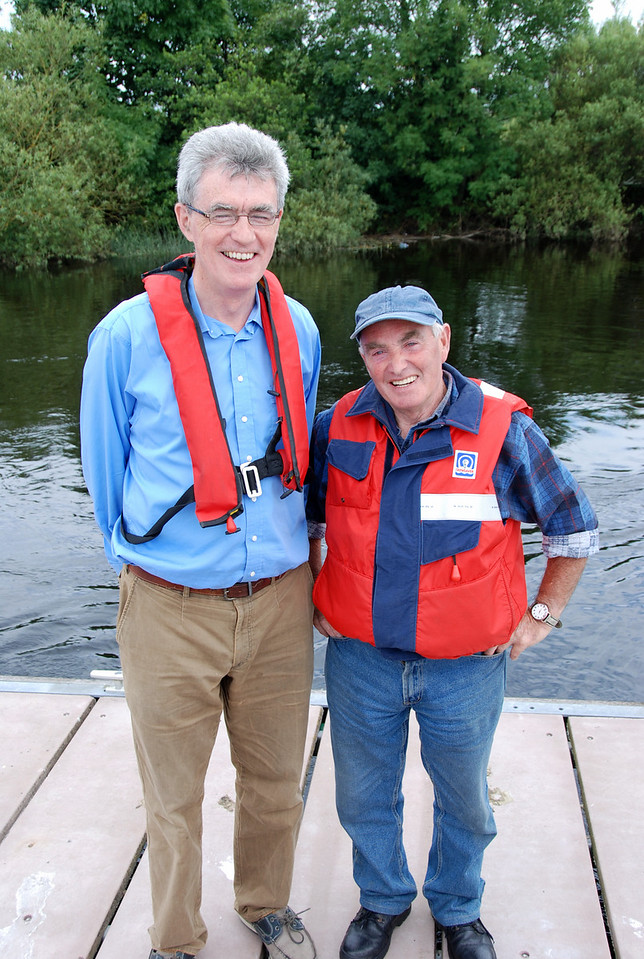 I was going to add a caption like 'Little and Large' and then in recognition of Pat Lysaght's assistance to boaters who travel through Limerick I decided that a more appropriate caption would be:<br /> <br /> 'Large and Larger'..........
