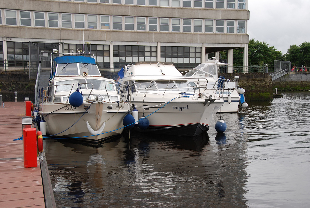 (L to R) Arthur, Rapport, Besie at Custom House quay on Saturday morning before heading to Kilrush.