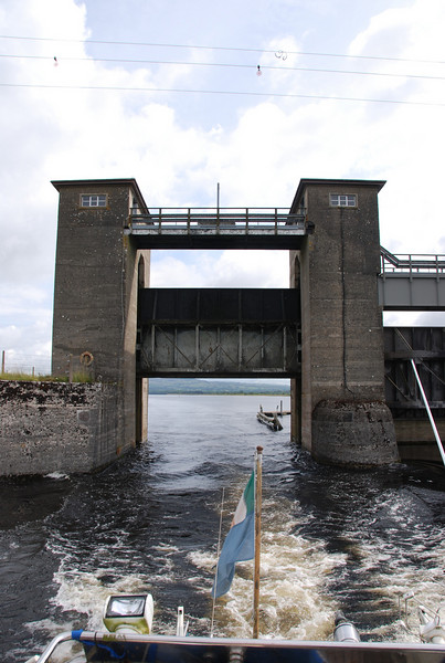Passing through Parteen Weir