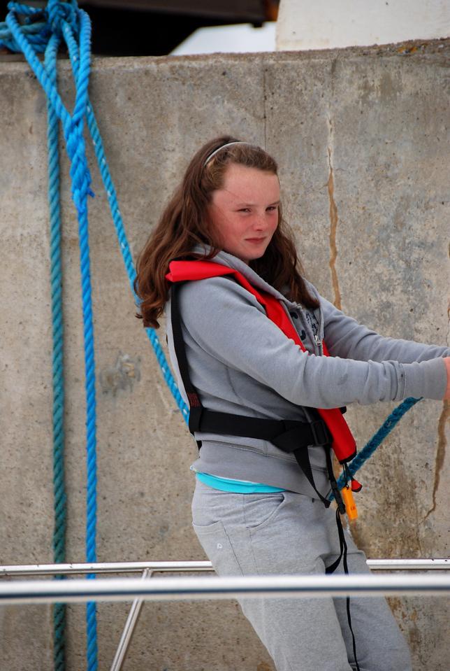 Caoimhe Ryan doing the ropes on Pantou Pau...