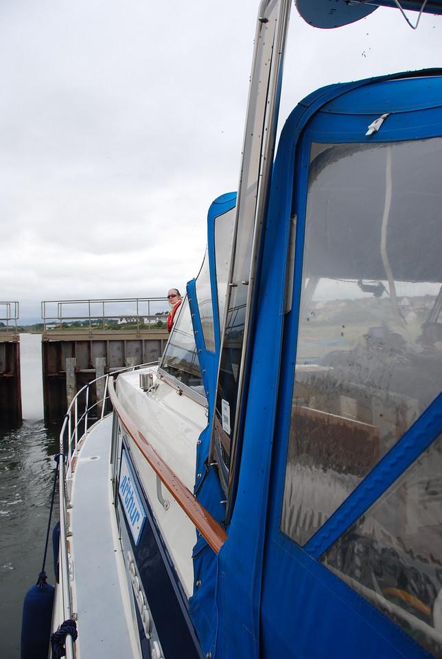 """""""Arthur"""" about to enter Kilrush Creek Marina...."""