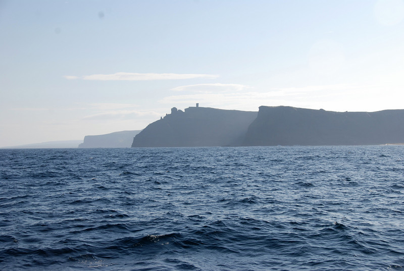 Tuesday, June 22nd.  We left Liscannor circa 07.00 and rounded Hog's Head circa 07.45 with a view of our next destination in sight...The Cliffs of Moher.