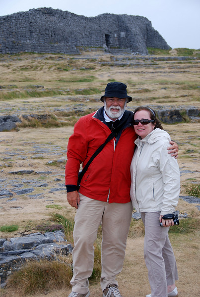 John and Mary with Dun Aengus in the background.