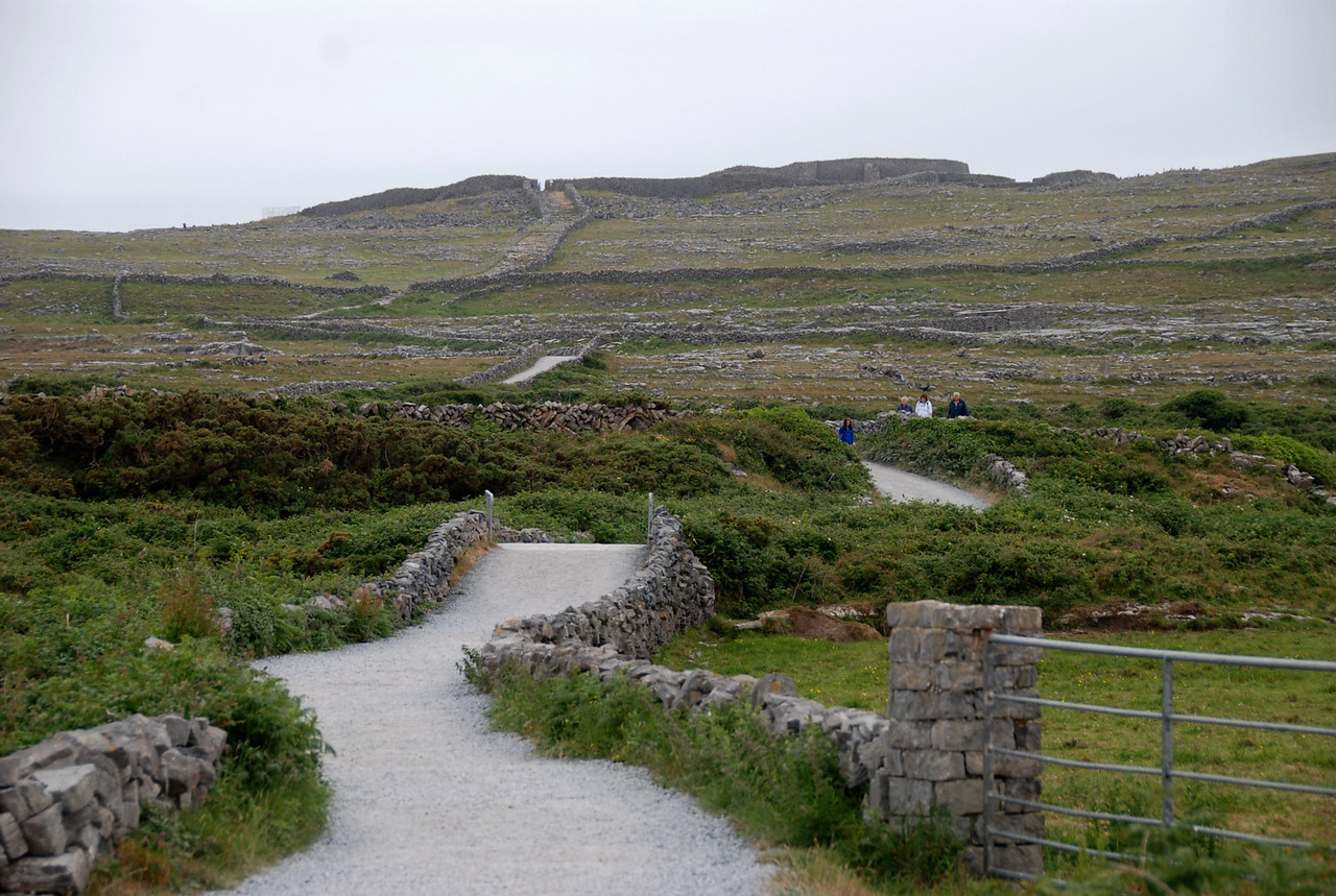 Our guide dropped us off here on the short path that leads to Dun Aengus, the ancient historic fort that is one of the showpieces on the island.