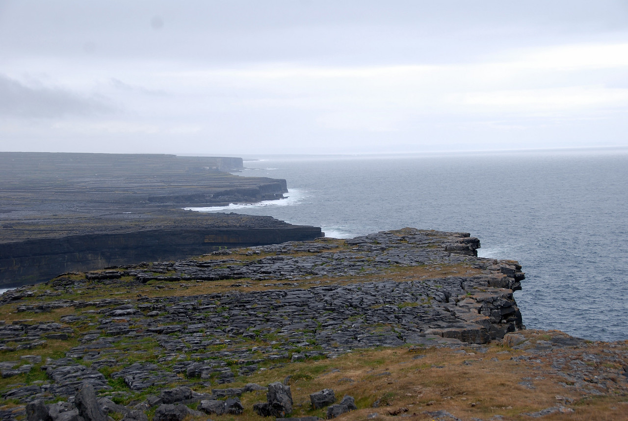 Stunning views of the cliffs from Dun Aengus.