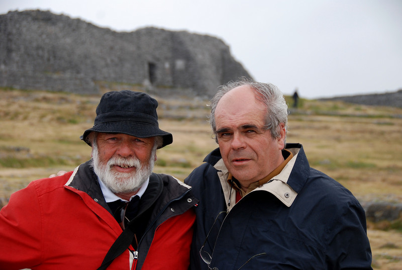 John and Paul in front of Dun Aengus.