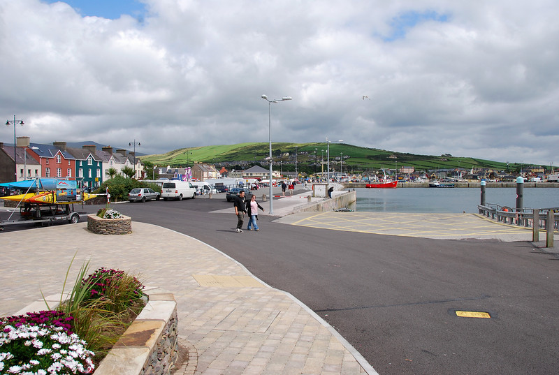 Dingle town, adjacent to the marina.